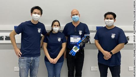 The ICL team includes Jumpei Kashiwakura (mechatronics engineer), Irene Mendez (team manager), Conrad Christian Bona (pilot) and Patrick G Sagastegui Alva (electronics engineer) pictured from left to right.