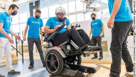 A Zurich team competing in the powered wheelchair race, 2020 is tasked to cross uneven terrain which focuses on the technology's power and surface wheel grip. Pilots will have a severe walking disability and must overcome obstacles such as climbing a staircase.