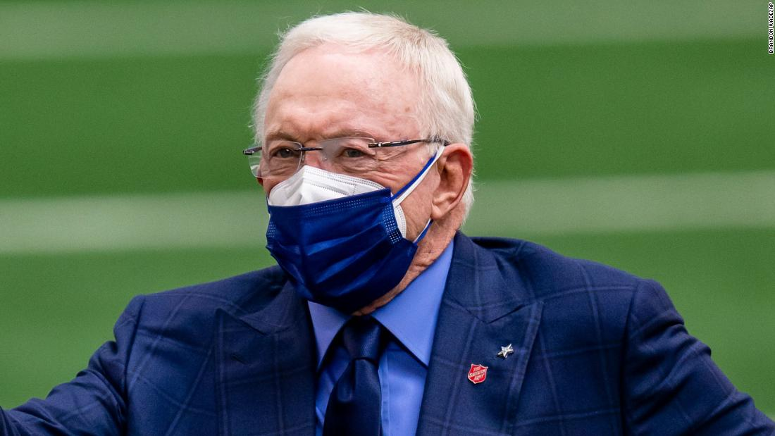Dallas Cowboys owner Jerry Jones plans for more fans in stands despite surging Covid-19 cases