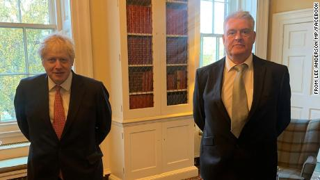 MP Lee Anderson shared this photo of his meeting with Boris Johnson on Facebook, on November 12.