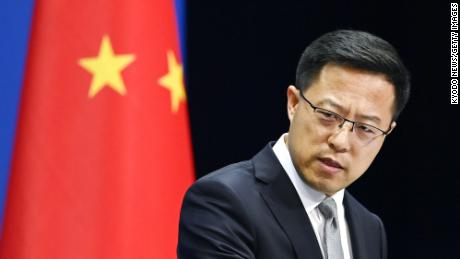 Chinese Foreign Ministry spokesman Zhao Lijiang attended a press conference in Beijing on August 28th.