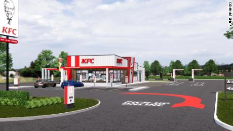 The new design emphasizes the drive-thru.
