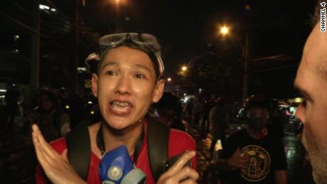 Protester on Thai police: There is no mercy for us