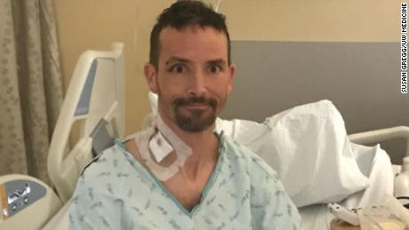 Michael Knapinski was recovering at Harborview Medical Center in Seattle after a near-death experience.
