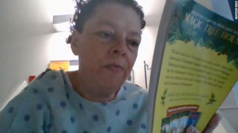 Teacher continues lessons from her hospital bed after unexpected surgery