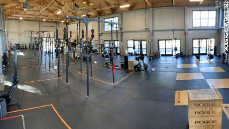 The new gym layout at 460 Fitness in Blacksburg, Virginia.