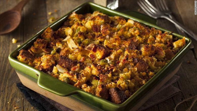 Go all-in on stuffing by turning it into a casserole for the main course.