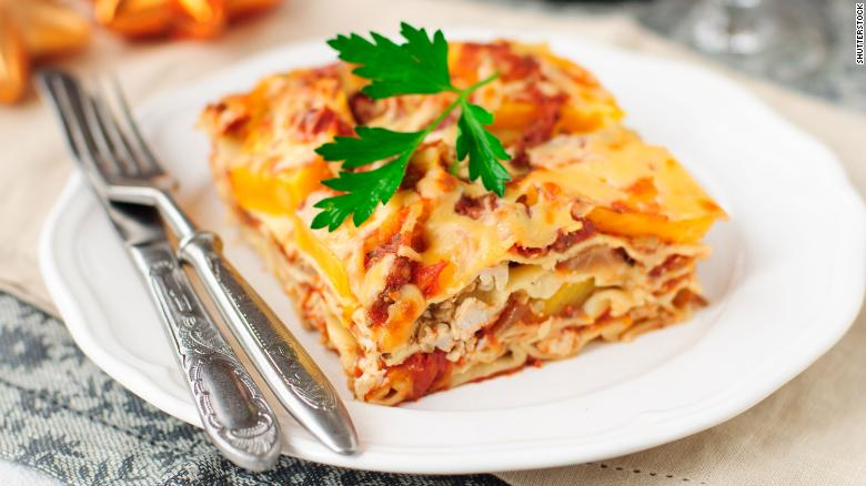 This chicken and pumpkin lasagna will fit right into your Thanksgiving menu.
