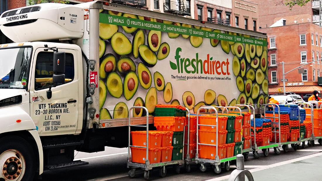 A Dutch grocery giant is buying FreshDirect