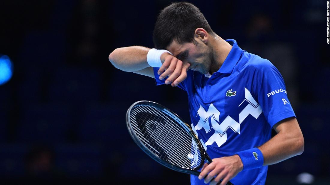 World No. 1 Novak Djokovic is stunned by Daniil Medvedev at the ATP Finals