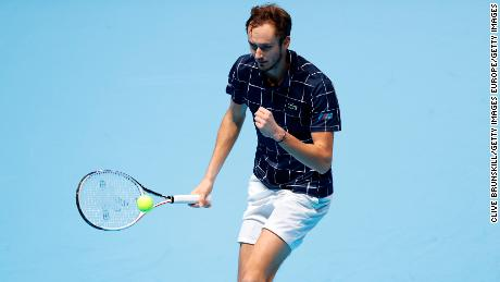 Daniil Medvedev beat Novak Djokovic to reach the semifinals of the ATP Finals.