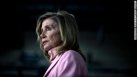 US Speaker of the House Nancy Pelosi speaks during her weekly press conference at the Capitol in August.