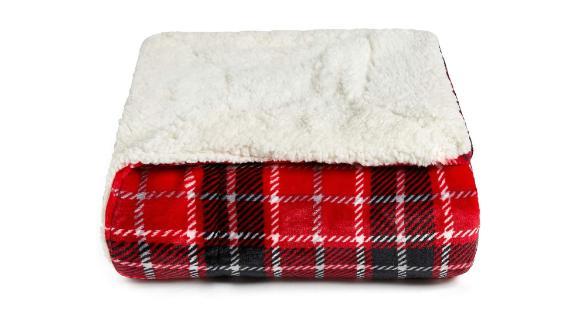 Jingcheng Buffalo Check Sherpa Fleece Throw Blanket