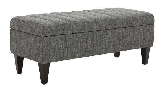 Amazon Brand Rivet Maple Channel Tufted Upholstered Storage Ottoman