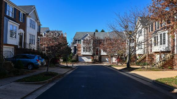 A view of the townhouses at Lenox Place at Sunnyside on November 16, 2020 in Alexandria, Va. (Photo by Ricky Carioti/The Washington Post via Getty Images)