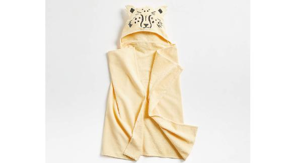 Kids Leopard Organic Hooded Towel