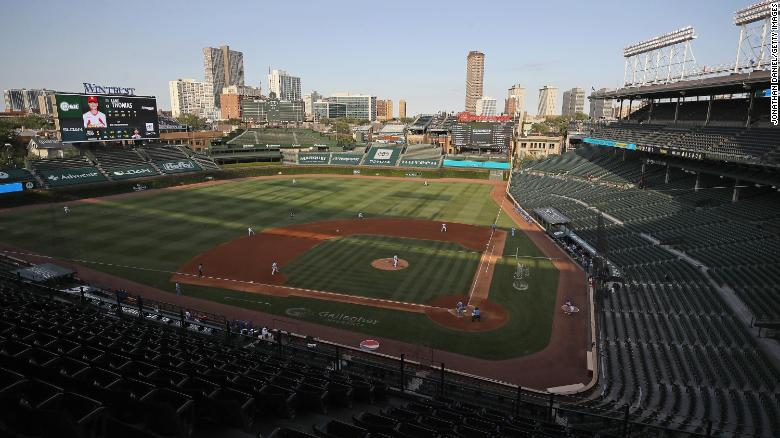 Wrigley Field, home of the Chicago Cubs, designated a National Historic Landmark