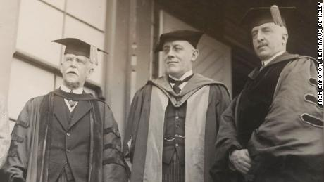 David Prescott Barrows (right), shown here on Charter Day 1922, was UC president from 1919 to 1923.