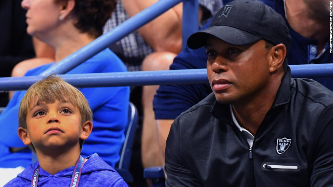 Tiger Woods to play in a tournament with his son for the first time