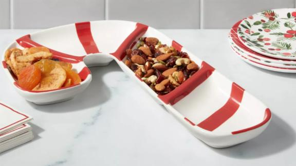 Threshold Earthenware Candy Cane Serving Tray