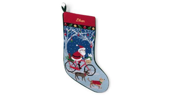 Lands' End Needlepoint Personalized Christmas Stocking