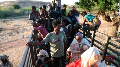 At least 30,000 refugees have fled to neigboring Sudan, according to the UN.