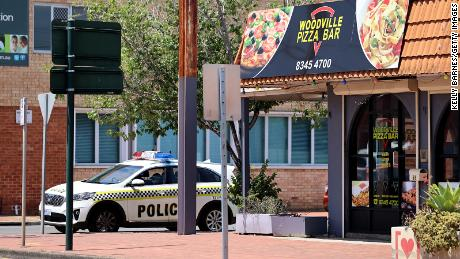 The Woodville Pizza Bar in South Australia, pictured on Friday, was declared a hotspot for Covid-19.