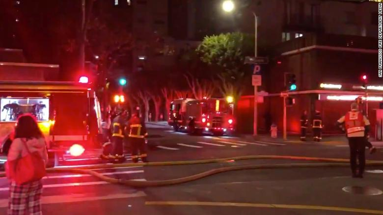 2 people injured in 3-alarm apartment fire in San Francisco