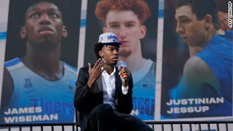 "The Warriors selected 7'1"" center James Wiseman with the second overall pick in Wednesday's NBA Draft, and expectations will be high for him to fill the gap left by Thompson's latest injury."