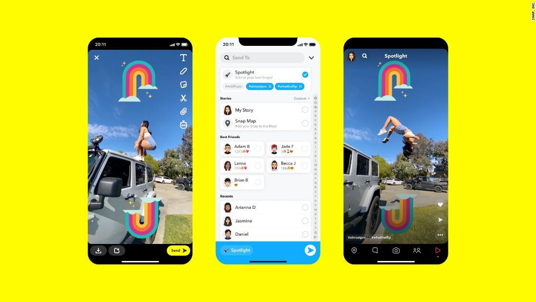 Now Snapchat has a TikTok copycat, too