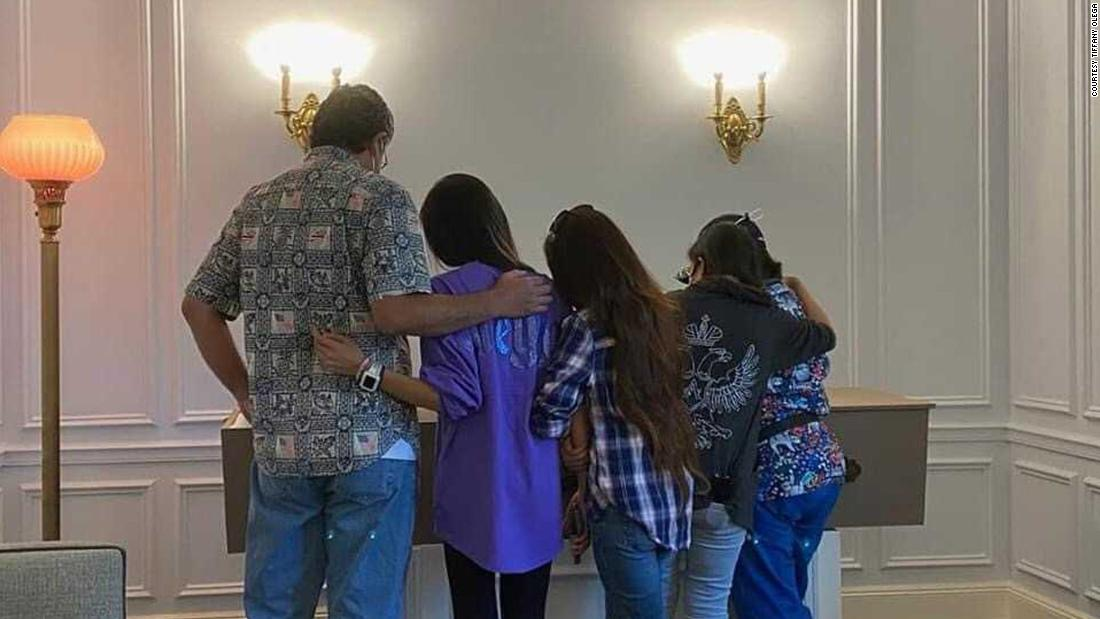 Due to coronavirus restrictions, only six people were able to attend Rosary Castro-Olega's viewing after she died.