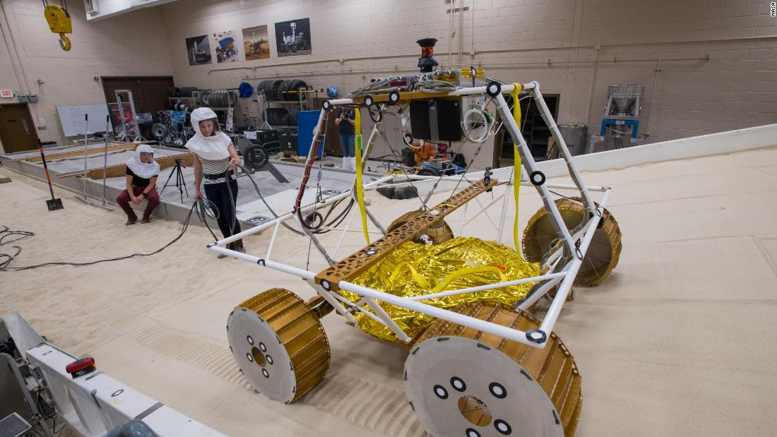VIPER, roughly the size of a golf cart, is being tested at NASA's Simulated Lunar Operations Lab in Ohio.
