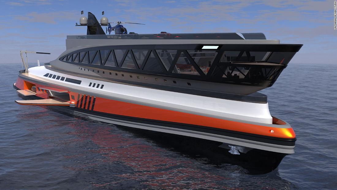 The $550 million megayacht concept that looks like a shark