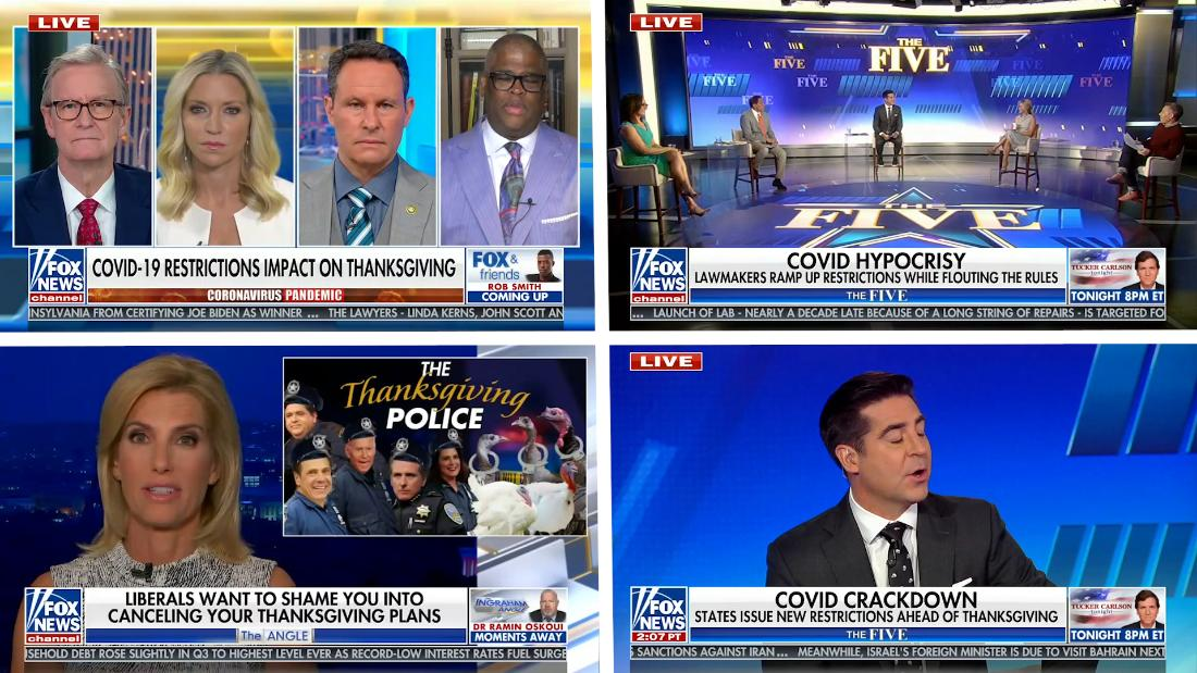 Fox News is mocking CDC guidance for Thanksgiving gatherings