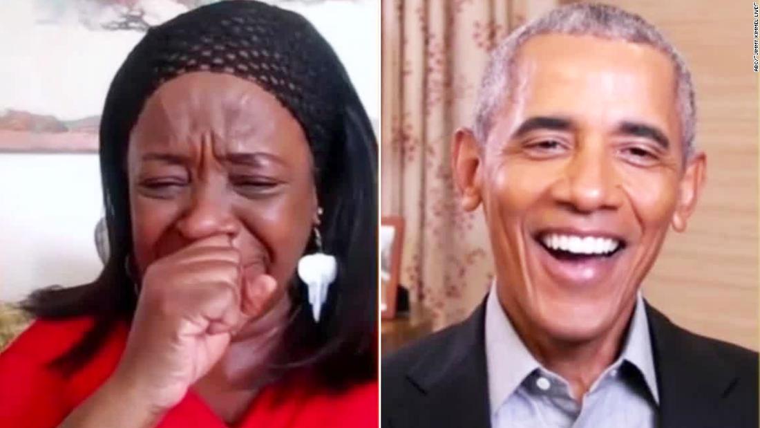 Watch fan completely freak when Obama joins video chat