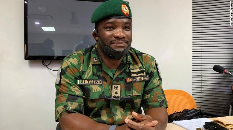 Brig. Gen. Ahmed Taiwo attends a judicial panel investigating the shooting of protesters in Lagos, Nigeria, on November 14, 2020.