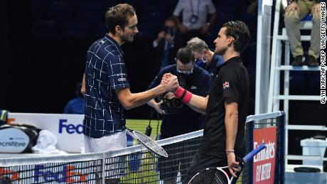 Daniil Medvedev's win over Dominic Thiem was the longest final in ATP Finals history.