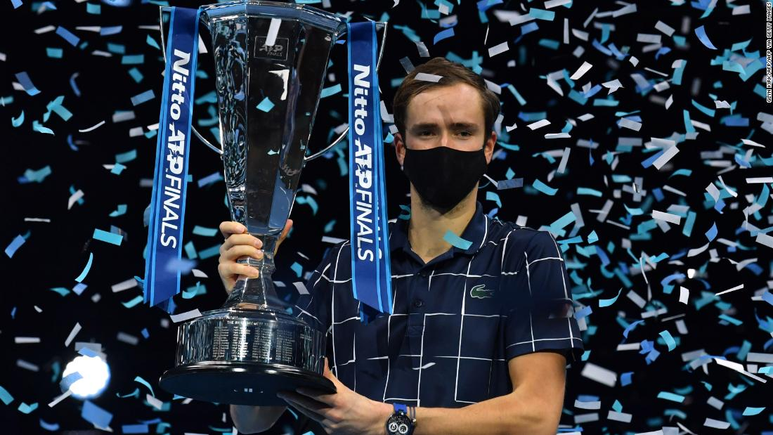 Daniil Medvedev battles from behind to win ATP Finals with victory over Dominic Thiem
