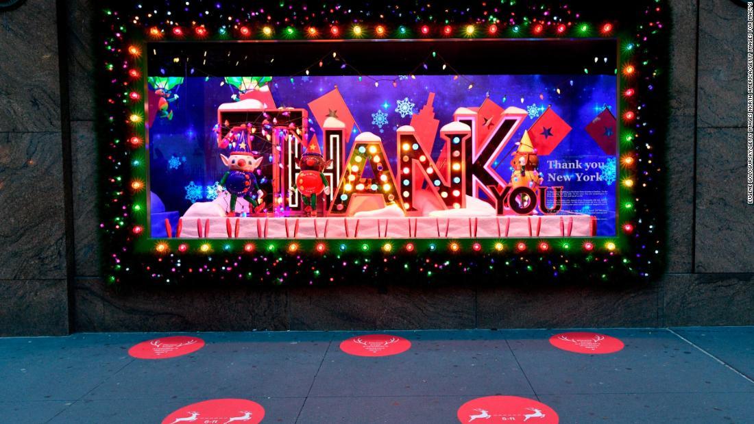 Macy's unveils holiday window display with gratitude theme