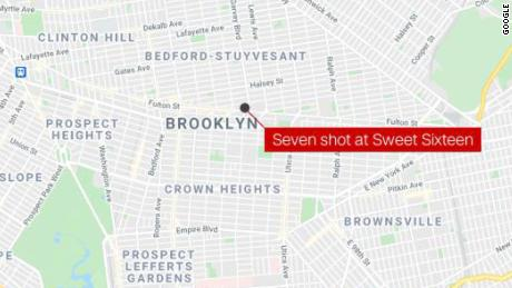 Seven people were shot, one fatally, at a Sweet Sixteen party in Brooklyn.