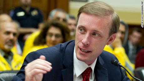 Former State Department Director of Policy Planning Jake Sullivan speaks during a hearing on Iran before the House Foreign Affairs Committee at Capitol Hill in Washington on Wednesday, October 11, 2017.