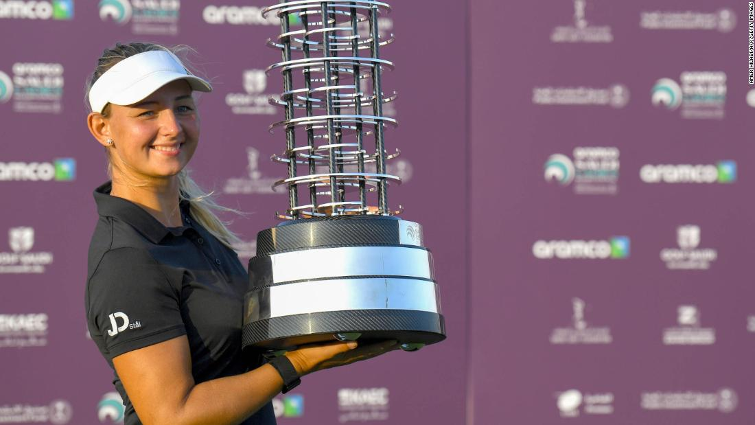 A star on the rise after back-to-back Tour wins