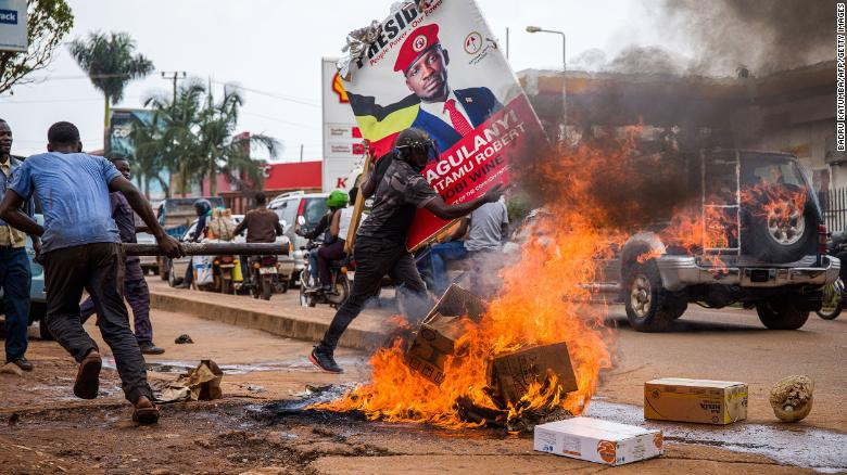 At least 45 people have been killed during Uganda protests