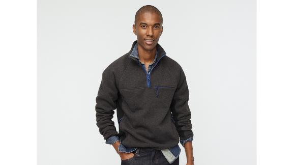 J.Crew Nordic Half-Zip Pullover in Polartec Sweater Fleece