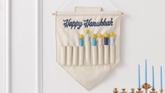 Threshold Happy Hanukkah Wall Hanging Menorah