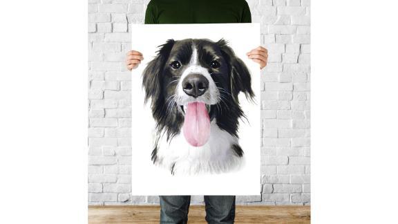 نقاشی آبرنگ سگ
