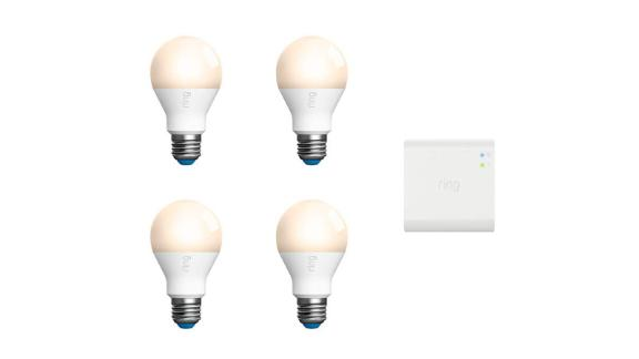 Ring A19 Smart LED Bulb 4-Pack + Bridge