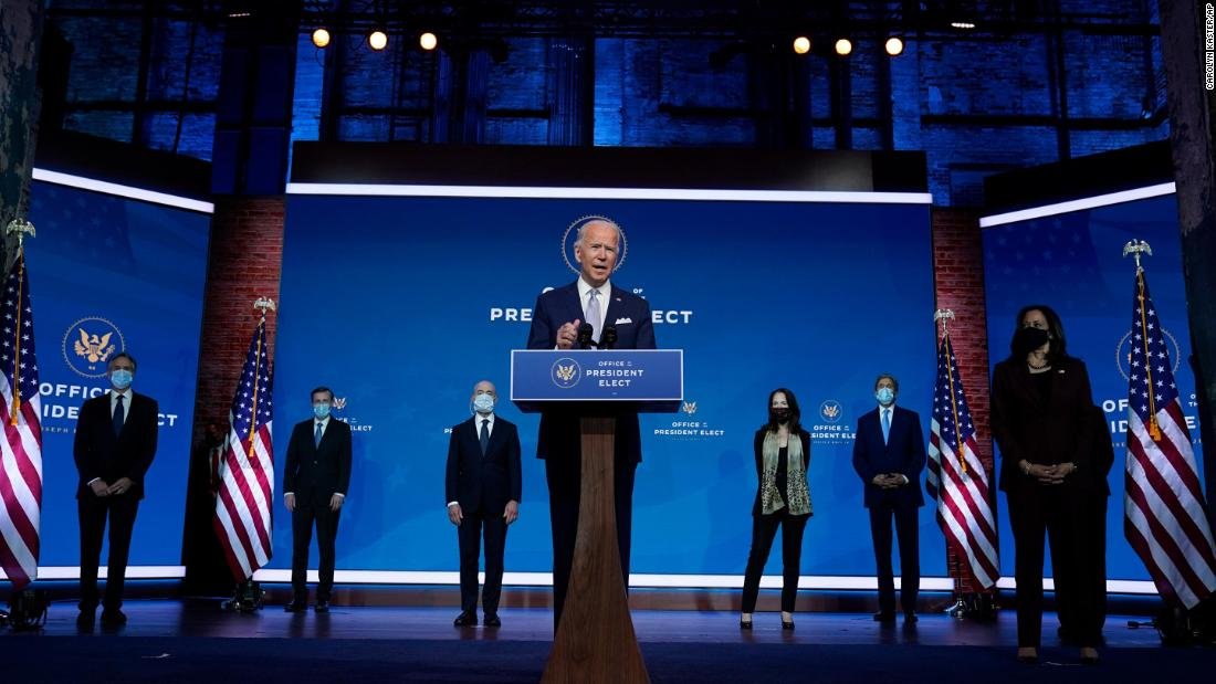 'America is back': Biden unveils his Cabinet picks