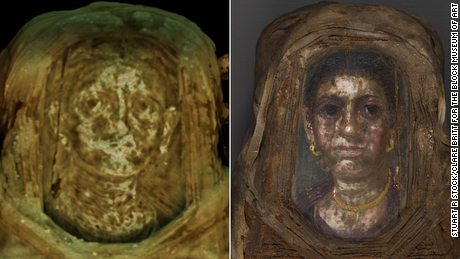 The mummy's portrait dated it to 150-200 AD.