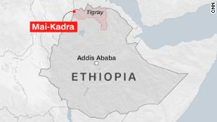 At least 600 civilians were killed in northern Ethiopia massacre, rights commission says
